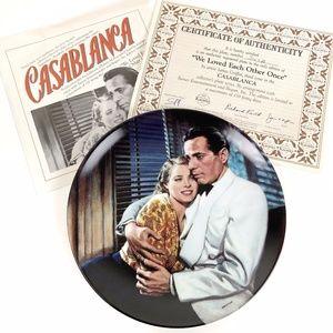 "Casablanca 9"" Collector's Plate"